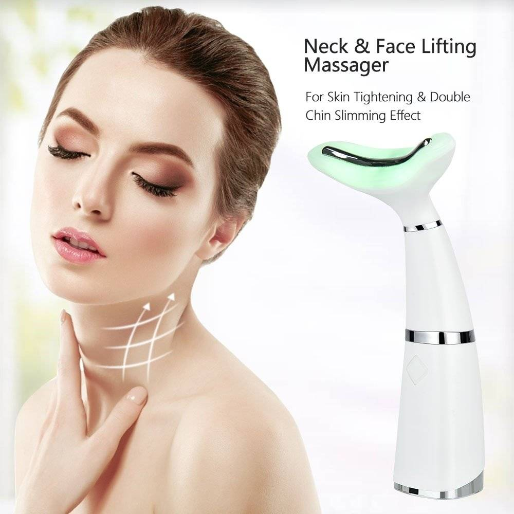 LED Neck and Face Lifting Therapy Skin Massager