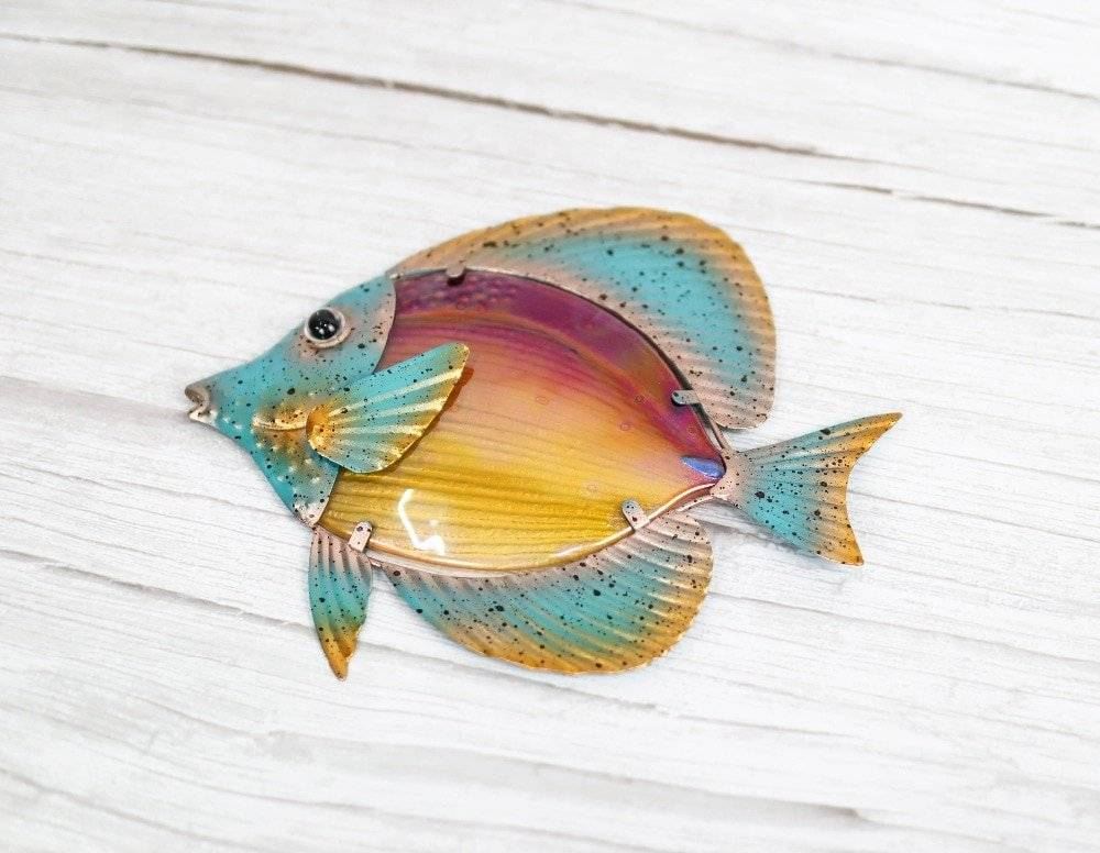 Metal Fish Wall Art for Home and Garden Decor